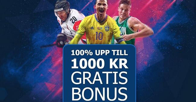 Exklusiv 10 bet odds bonus på 100%