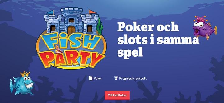 Spela Fish Party Poker hos Paf