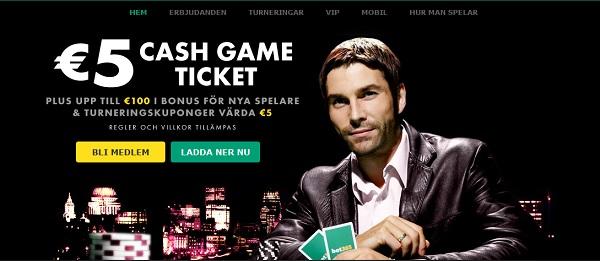 Gratis poker hos Bet365