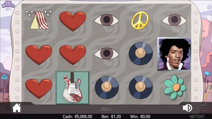 Jimi Hendrix ny NetEnt spelautomat med Free spins