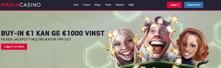Spela HexaPro poker hos Maria Casino