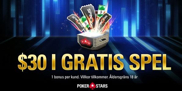 Pokerstars pokerbonus 2020 upp till 30 dollar