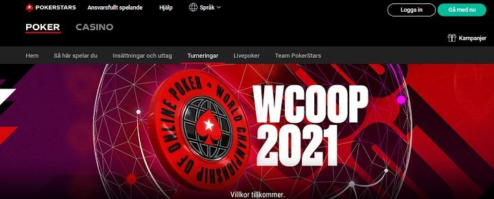 Spela WCOOP 2021 hos Pokerstars